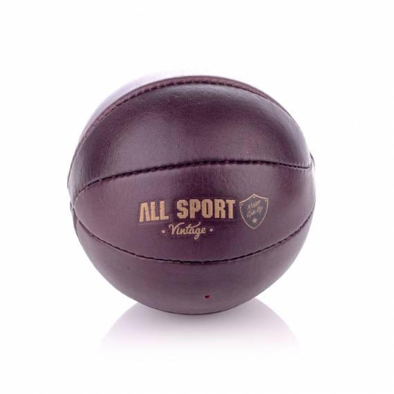 Baby-Ball Basket En Cuir Vintage.