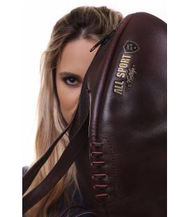 Vintage Leather Rugby Ball Handbag