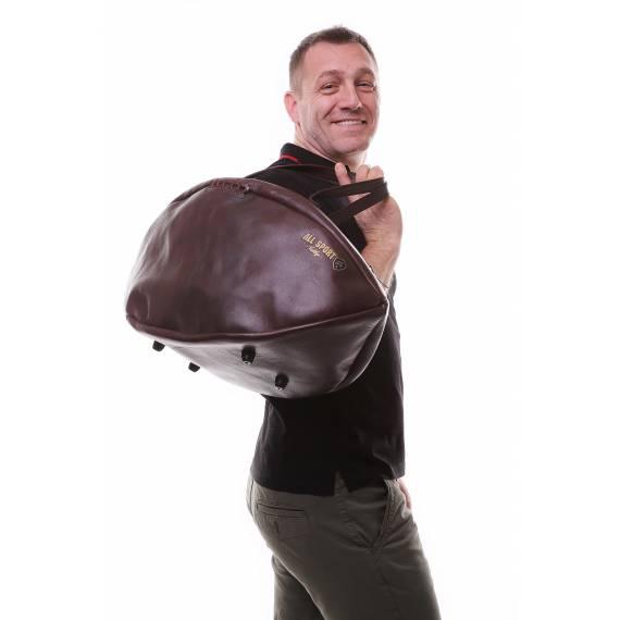 Sac de voyage Ballon de Rugby En Cuir Vintage.