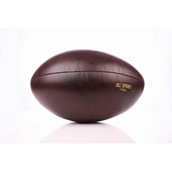 Ballon de Rugby En Cuir Vintage.