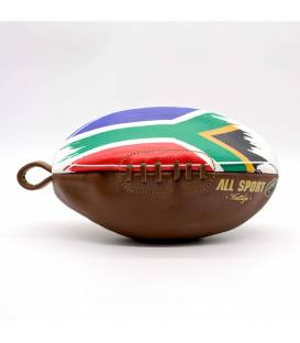 Vintage leather rugby ball shape toiletry bag South Africa