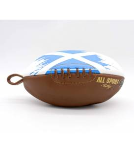 Vintage leather rugby ball shape toiletry bag Scotland