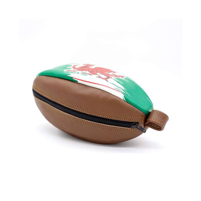 ALL SPORT VINTAGE Trousse de Toilette Ballon de Rugby en Cuir Nouvelle Z/élande