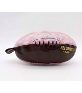 Trousse de toilette ballon de rugby Pink