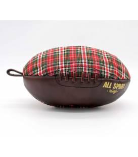 Trousse de toilette ballon de rugby Tartan