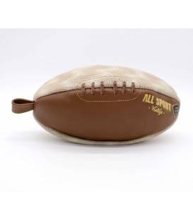 Trousse de toilette ballon de rugby Beige