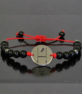 Bracelet Black Pearls Red Line