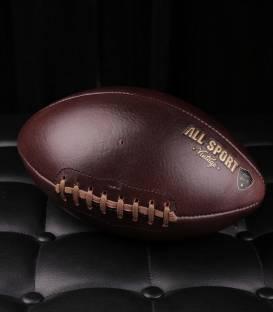Ballon de Football Américain En Cuir Vintage.
