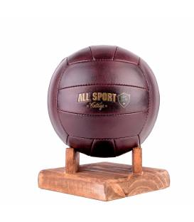 Ballon de Volley En Cuir Vintage.