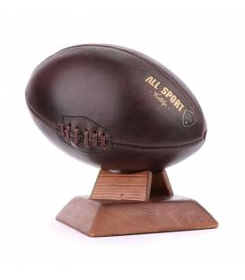 Ballon de Rugby En Cuir Vintage