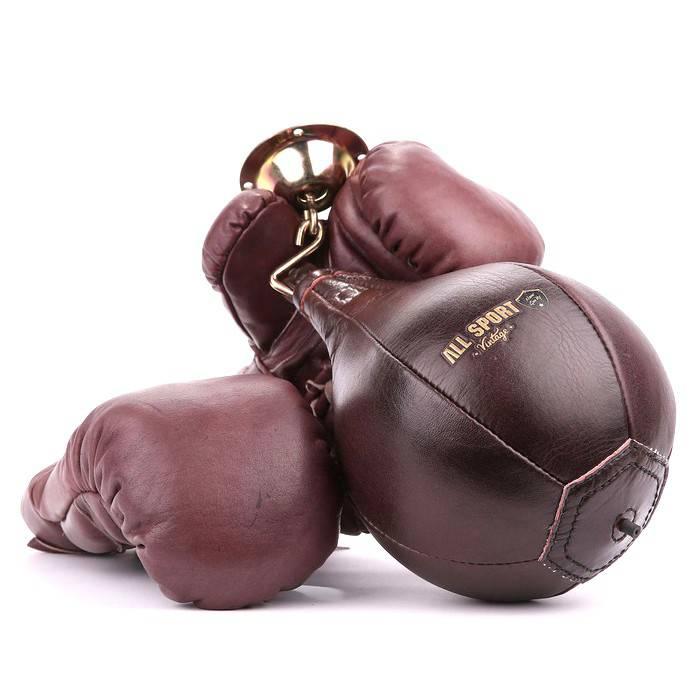 Gants poire de frappe 100 cuir vintage all sport vintage - Gants de boxe vintage ...