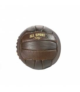 Baby-Ball Football En Cuir Vintage