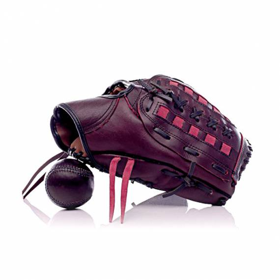 Gants de base ball en cuir vintage