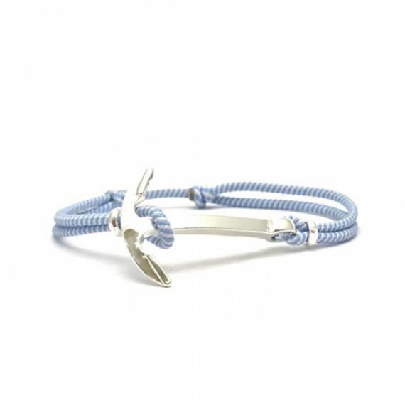 Bracelet Ancre Marine Finition Argent
