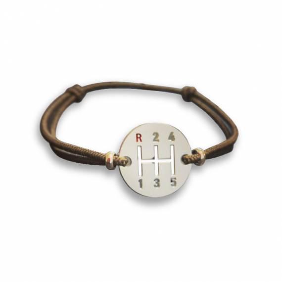 Bracelet Sport Auto Gearbox Vintage Finition Argent