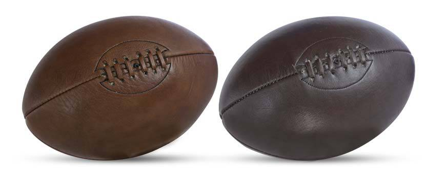 ballon de rugby en cuir personnalisable objet d co et id e cadeau allsportvintage. Black Bedroom Furniture Sets. Home Design Ideas