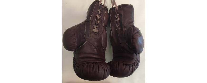 gants de boxe cuir 100 vintage allsportvintage. Black Bedroom Furniture Sets. Home Design Ideas