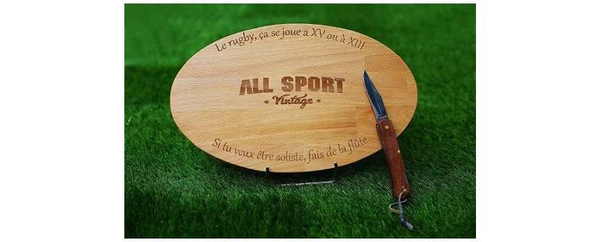 Les planches apéro rugby avec couteau