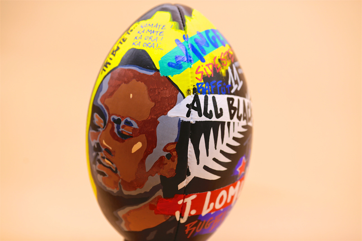 all-sport-vintage-custom collector rugby ball