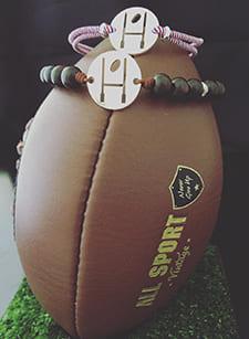 Bracelet de présentation modèle rugby