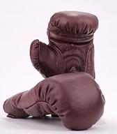 Gantes de boxe cuir vintage