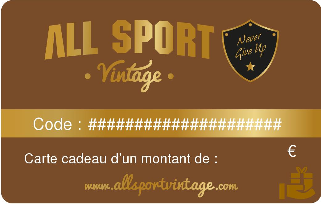 Carte cadeau ballon sport vintage cuir