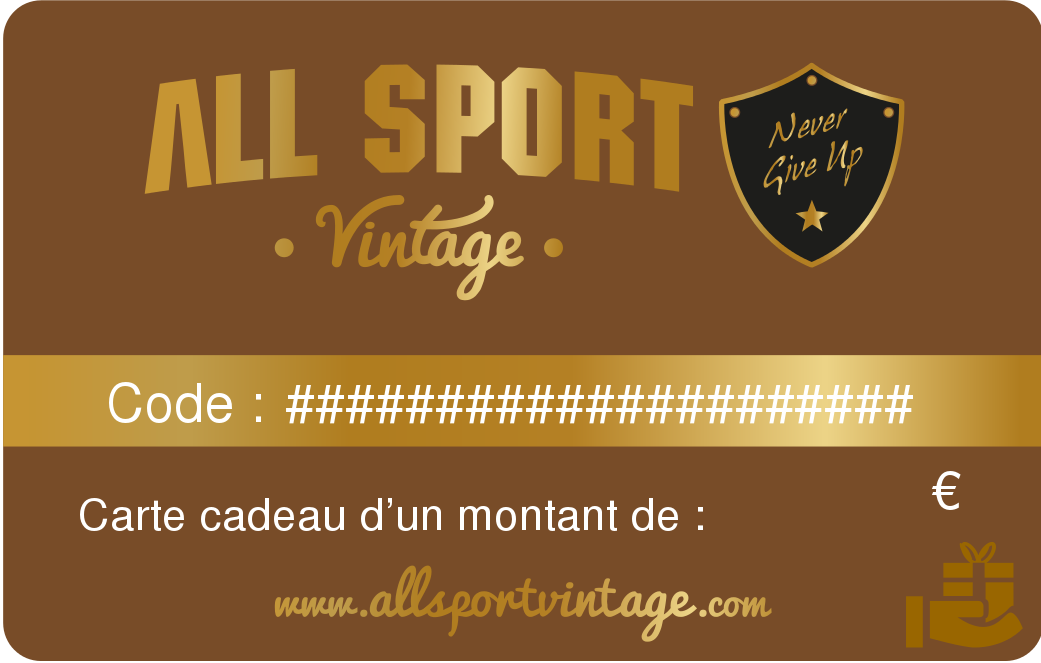 Leather vintage sport ball gift card