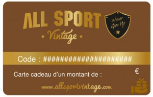 Carte Cadeau All Sport Vintage